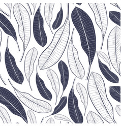 trendy summer pattern with tropical leaves vector image vector image