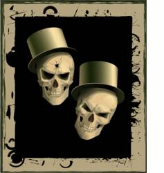 two spiteful skulls vector image