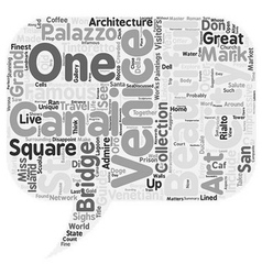 Venice city guide text background wordcloud vector