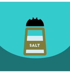 Flat icon design collection salt shaker vector