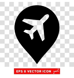 Airport marker eps icon vector