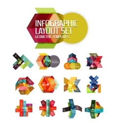 Creative paper geometric business infographic vector