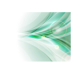 Bright green abstract shiny waves background vector