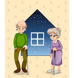 A grandfather and a grandmother vector image