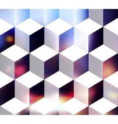 White cubes vector