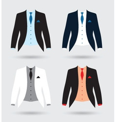 Suits set vector