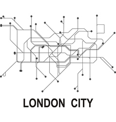 London subway map vector