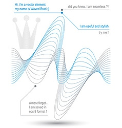 Creative refined flowing curves light dynamic vector