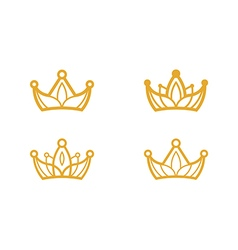 Golden crown symbols vector