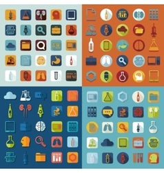 Set of medical flat icons vector