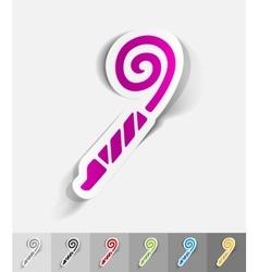 Realistic design element party horn vector