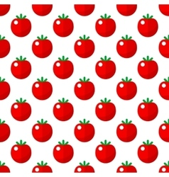 Tomato pattern seamless vector image