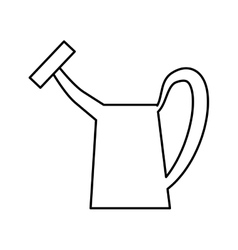 Watering can tool icon gardening design vector
