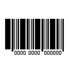Bar code with serial number icon vector