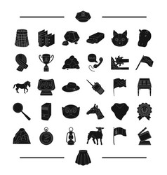 Animal industry cinema and other web icon in vector