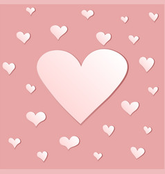 Background with hearts in beige color gamma vector