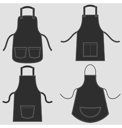 Black apron set vector image