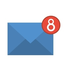 blue email envelope received social media vector image