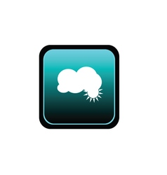 button of cloud vector image