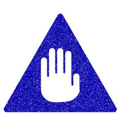 Caution icon grunge watermark vector