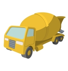 Concrete mixer cartoon yellow symbol vector