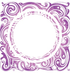 Decorative retro frame vector image vector image