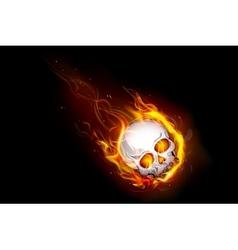 Fiery Skull vector image vector image