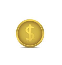 golden euro coin vector image