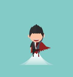 happy face businessman a concept business success vector image