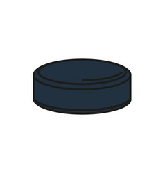 hockey puck isolated on white background vector image
