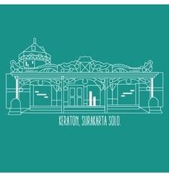 Indonesia yogyakarta surakarta historic building vector image