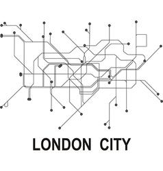 London subway map vector