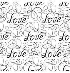 Love seamless pattern doodle ornamental vector