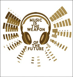Music slogan print vector