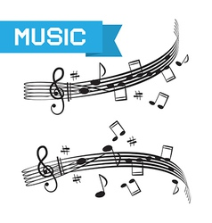 Music - Staff and Notes vector image vector image