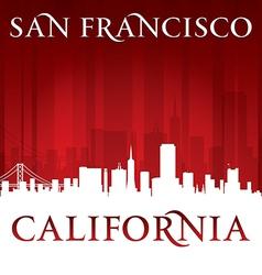 San francisco california city skyline silhouette vector