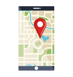 Smartphone device with gps app vector