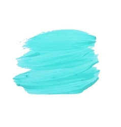 Turquoise smear of paint vector