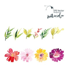 Watercolor set vector