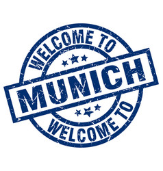 Welcome to munich blue stamp vector