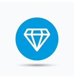Diamond icon jewelry gem sign vector