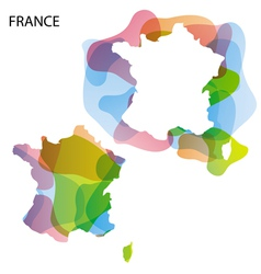 Map art france 01 vector