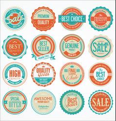 Retro vintage design quality badges collection 3 vector