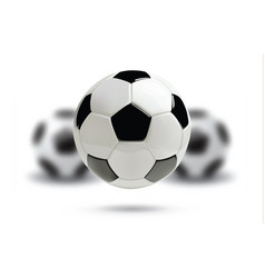 3d football or soccer ball on white background vector