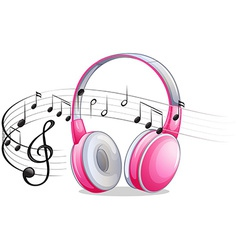 Headphone and notes vector