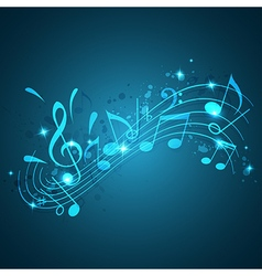 Blue abstract music background vector image