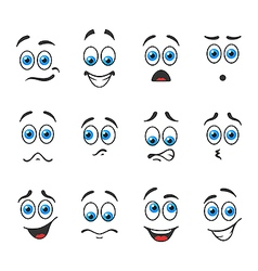 Blue eyes in different emotions vector