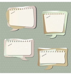 paper speech bubbles vector image