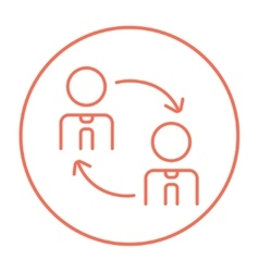 Staff turnover line icon vector