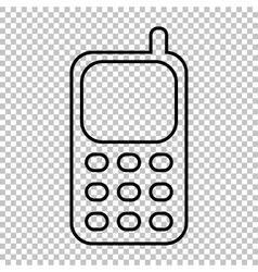 Cell phone line icon vector